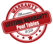 Lifetime Warranty Pool Tables