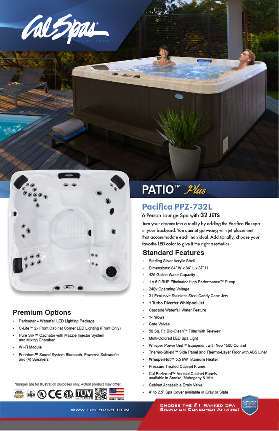 Cal Spas Patio Plus Series Pacifica
